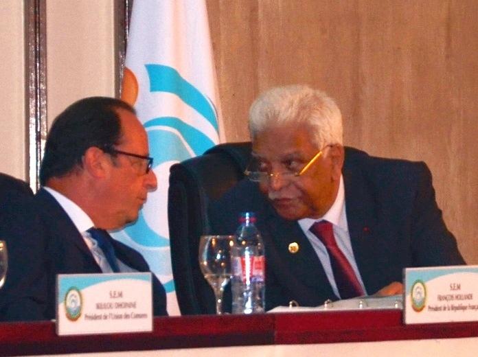Oif : Devant François Hollande, les chefs d'Etat et de gouvernement de l'océan Indien apportent t leur soutien à Jean Claude de l'Estrac