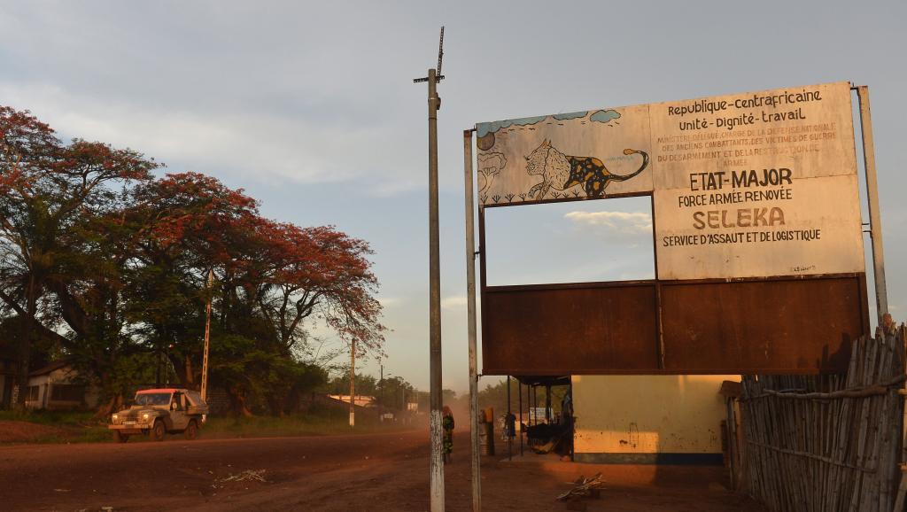 Vue de locaux de la Seleka, à l'entrée de Bambari, le 19 avril 2014 AFP PHOTO / MIGUEL MEDINA