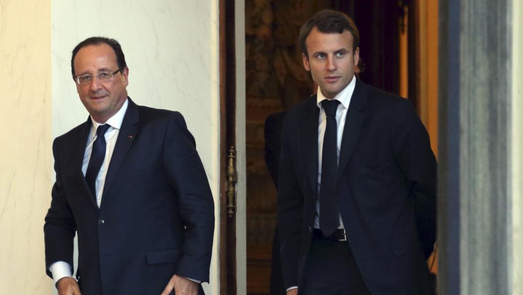 François Hollande et Emmanuel Macron à l'Elysée, le 1er octobre 2013. REUTERS/Philippe Wojazer/Files
