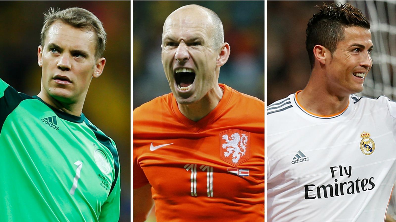 Neuer, Robben, Ronaldo : qui succédera à Ribéry pour le titre de joueur UEFA ?