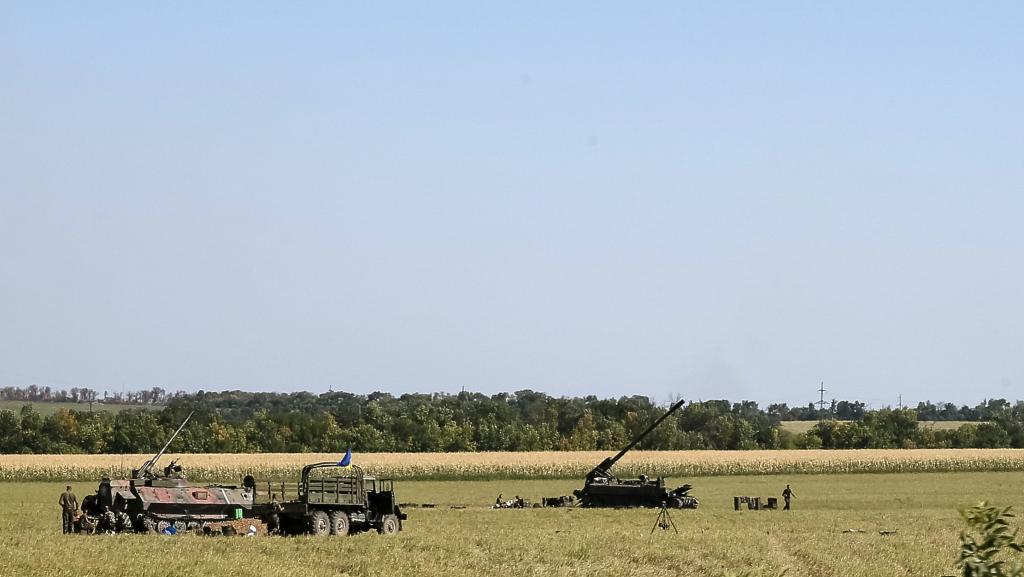 Canons autopropulsés autour de Lougansk, le 26 août.
