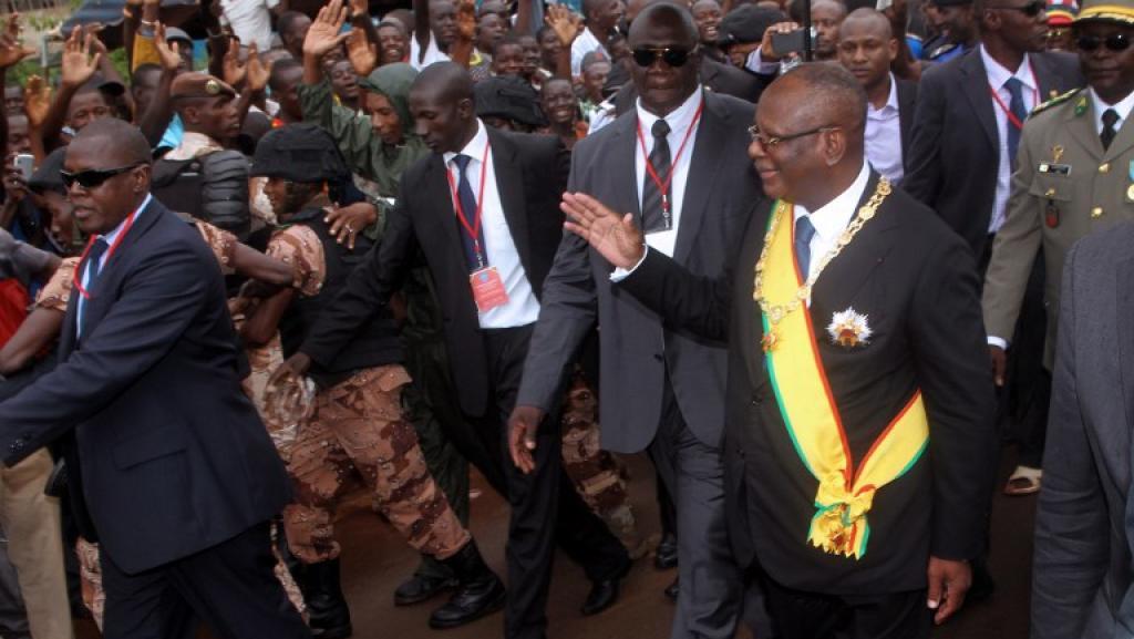 Ibrahim Boubacar Keïta, le 4 septembre à Bamako. AFP PHOTO HABIBOU KOUYATE