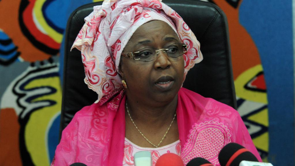 La ministre sénégalaise de la Santé Awa Marie Coll Seck avait annoncé le premier cas d'Ebola au Sénégal, le 29 août 2014. AFP PHOTO / SEYLLOU
