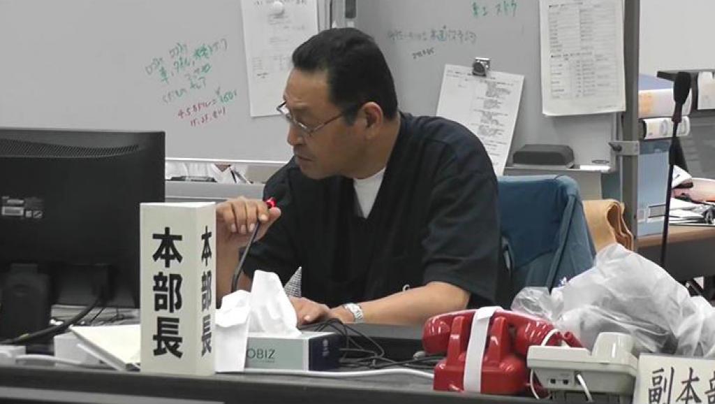 Masao Yoshida lors d'une réunion, le 30 mai 2011. Le directeur de la centrale de Fukushima était sur le site de la catastrophe jour et nuit, depuis le 11 mars. REUTERS/Tokyo Electric Power