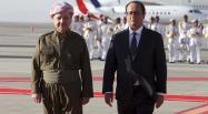 A Erbil, François Hollande et le président de la région autonome du Kurdistan irakien, Massoud Barzani. REUTERS/Azad Lashkari