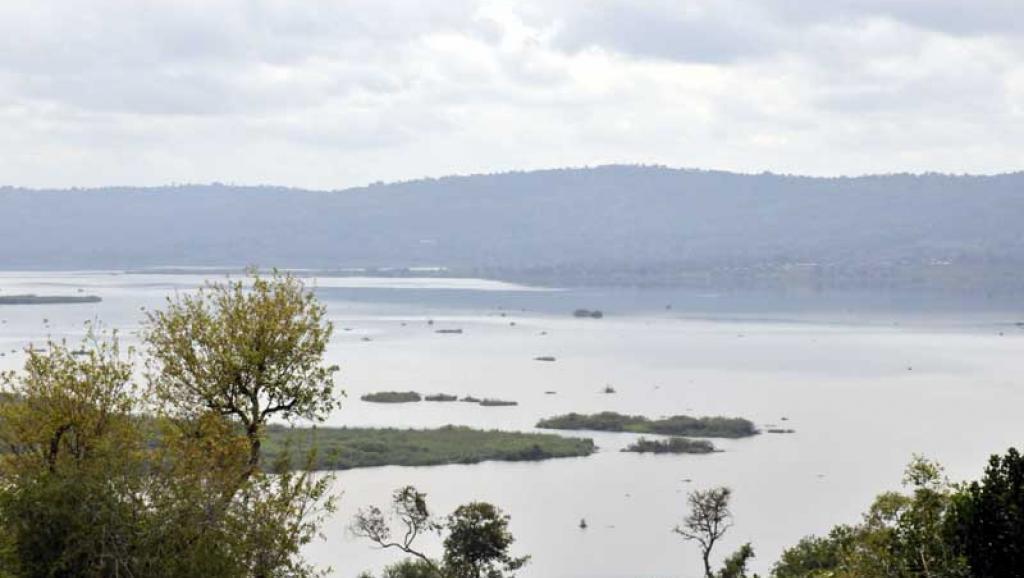 Vue du lac Rweru.
