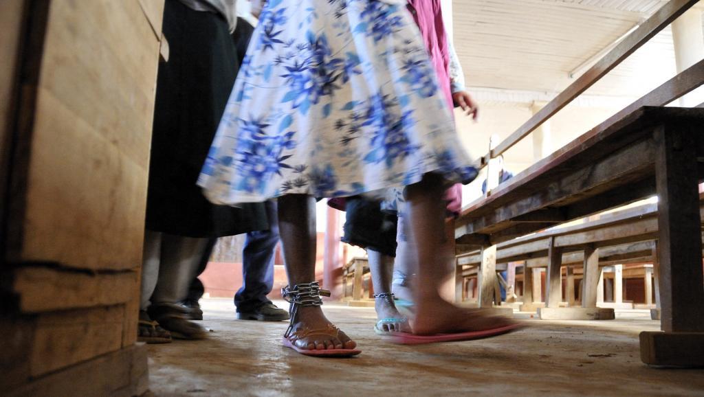 L'Eglise catholique a vulgarisé le message de la Conférence épiscopale nationale congolaise « Sauvons la Nation ». Patrick CASTAGNAS/Gamma-Rapho via Getty Images