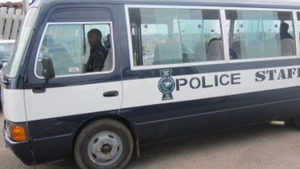 Un bus de la police rwandaise.