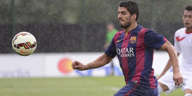 Espagne - Luis Suarez ouvre son compteur avec le Barca