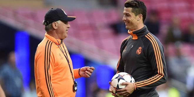 Ligue des Champions - Ancelotti n'a jamais entraîné un joueur aussi fort que Ronaldo