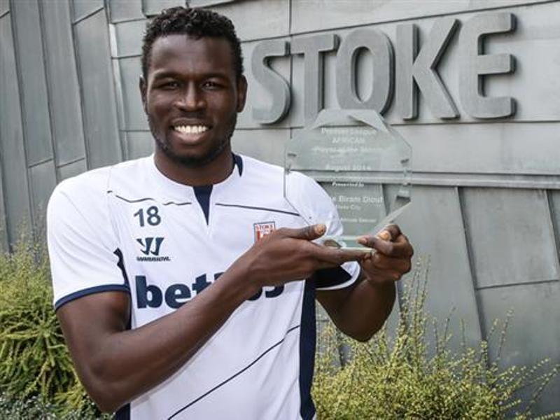 Premier League: Mame Birame Diouf (Stoke City), meilleur joueur africain du mois d'août