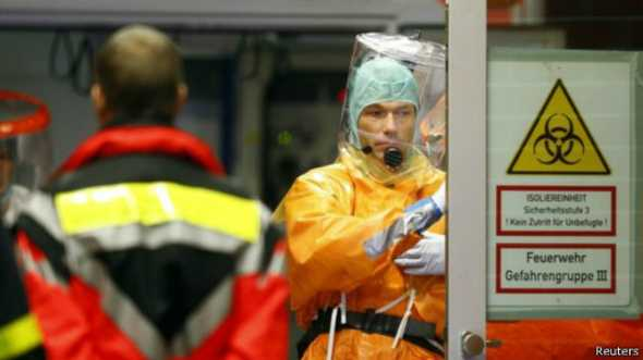 Les équipes médicales de l'hôpital de Francfort ont accueilli le patient au CHU de Francfort