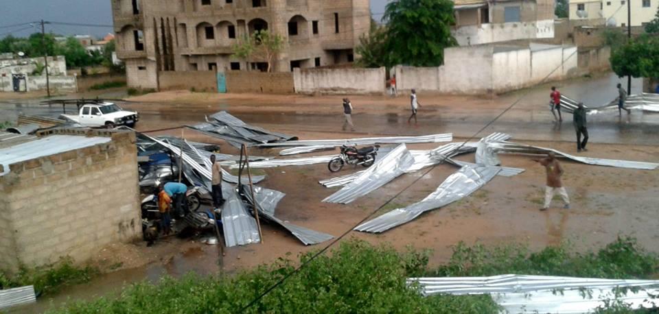 Grave Orage à Fatick : Beaucoup de maisons et d'installation électriques détruites