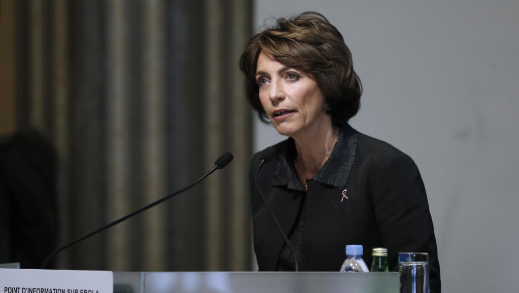 La ministre française de la Santé, Marisol Touraine a tenu un point presse, vendredi 10 octobre, pour faire un état des lieux concernant Ebola. AFP PHOTO / FRANCOIS GUILLOT