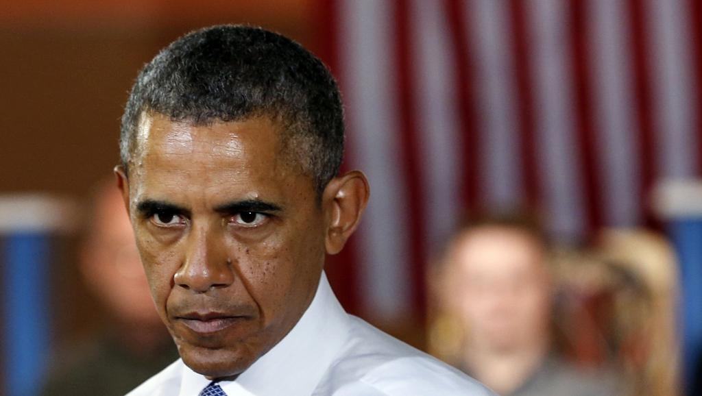 Barack Obama a annoncé que les frappes aériennes se poursuivraient, mais qu'il ne fallait pas s'attendre à un règlement rapide de la crise. REUTERS/Kevin Lamarque