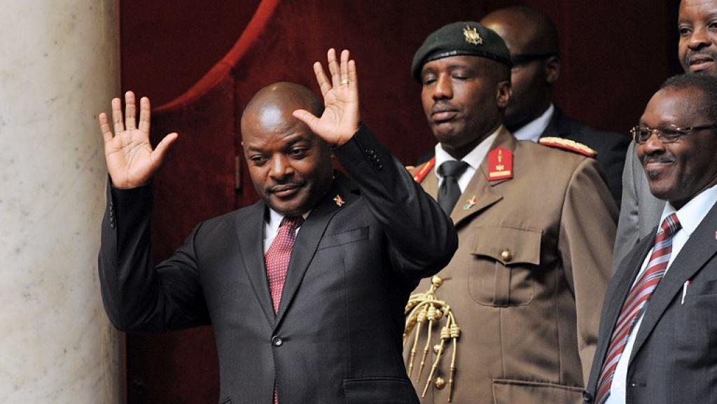 Le président burundais, Pierre Nkurunziza, à l'Assemblée nationale, à Paris, le 12 mars 2013. AFP/Pierre Andrieu