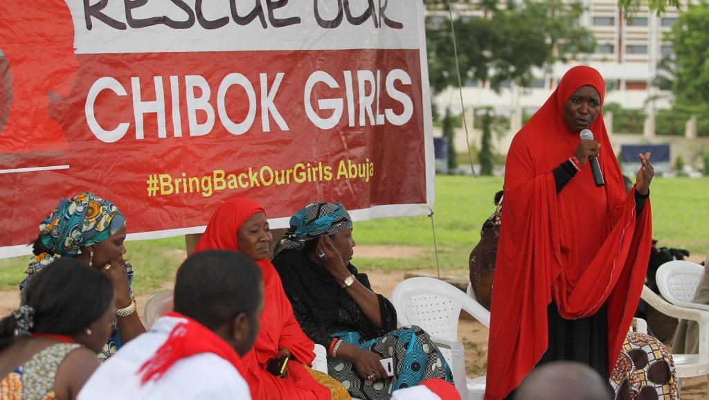 Manifestation à Abuja le 18 juin 2014 du collectif #BringBackOurGirls (rendez-nous nos filles), né après l'enlèvement des 200 lycéennes de Chibok en avril dernier. REUTERS/Afolabi Sotunde