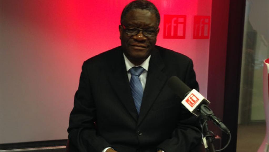 Le docteur Denis Mukwege, interviewé lors du magazine Priorité santé de RFI, le 22 novembre 2013. RFI/Didier Bleu