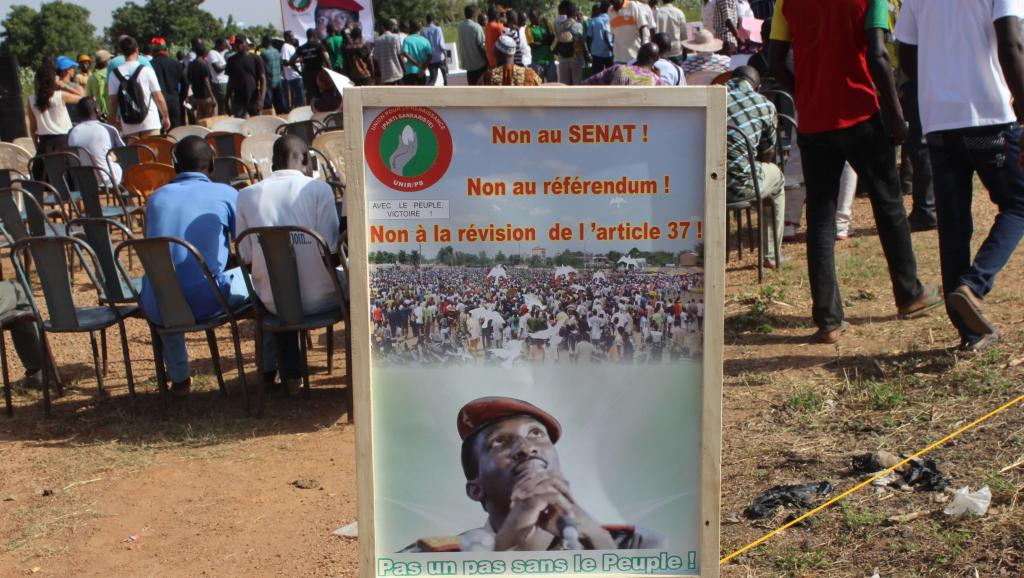 Mobilisation de l'opposition burkinabè, le 15 octobre. Romaric Hien / AFP