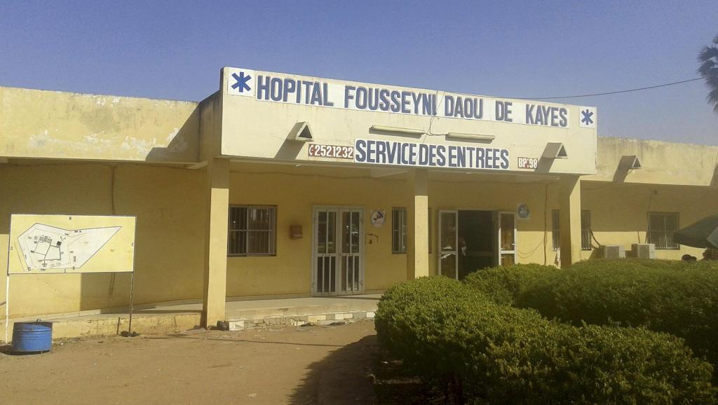 L'hôpital de Kayes où la première victime d'Ebola au Mali est décédée. REUTERS/Stringer