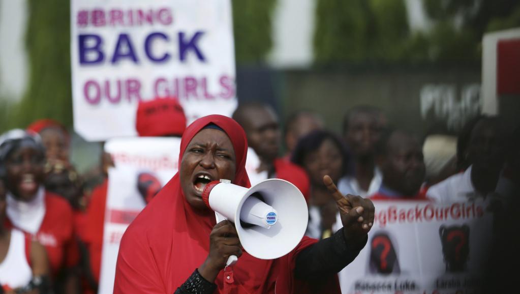 Une marche pour demander la libération des jeunes filles enlevées par Boko Haram à Chibok. REUTERS/Afolabi Sotunde