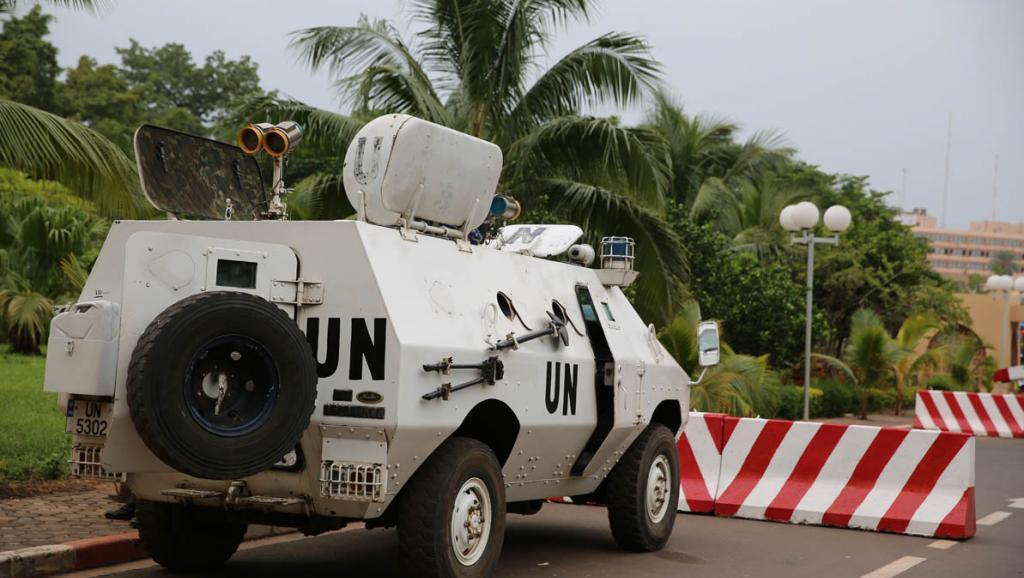 Les casques bleus de la Minusma à Bamako. Pierre René-Worms/RFI