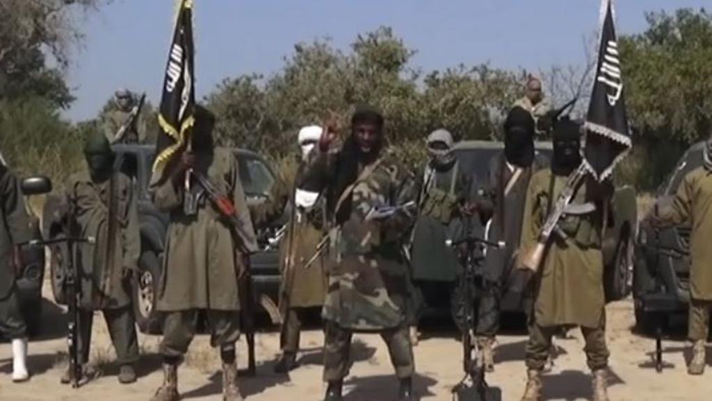 Capture d'écran de la vidéo de Boko Haram dans laquelle Aboubakar Shekau, le chef du groupe islamiste, exclut toute négociation avec le gouvernement nigérian en vue d'un cessez-le-feu. AFP PHOTO / BOKO HARAM
