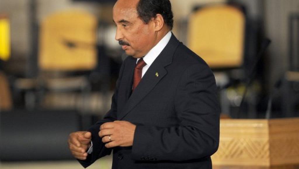 Le président de la Mauritanie Mohamed Ould Abdel Aziz, le 14 janvier 2012. AFP/ FETHI BELAID