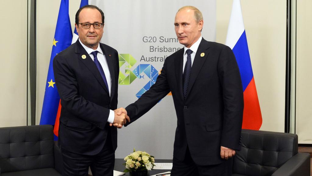 G20: l'Ukraine au cœur de la rencontre entre Hollande et Poutine