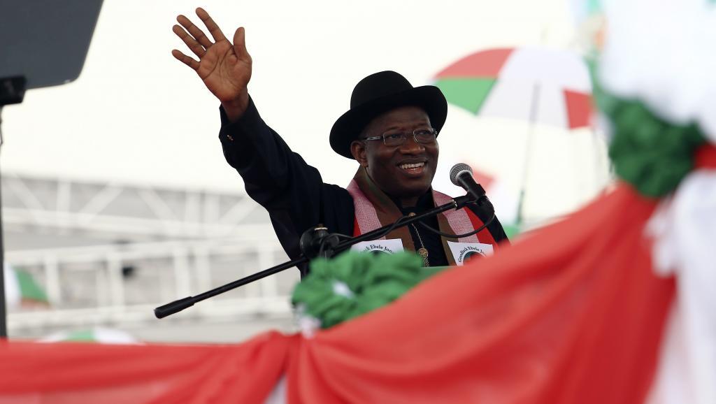 La reprise de la ville de Chibok par l'armée : un point positif pour le président Goodluck Jonathan, qui brigue un nouveau mandat. REUTERS/Afolabi Sotunde