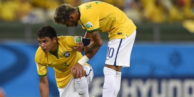 Football - Thiago Silva et Neymar passent l'éponge
