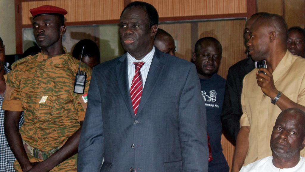 Le président par intérim du Burkina Faso, Michel Kafando, à Ougadougou, le 17 novembre 2014. AFP/ROMARIC HIEN