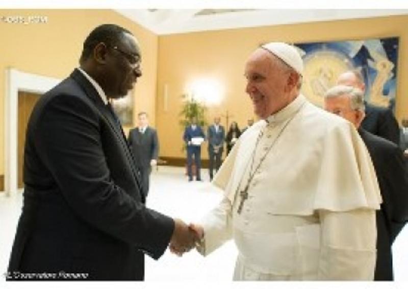 Le Pape François a reçu le Président Sall, ce mardi