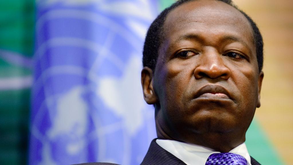 L'ancien président burkinabè Blaise Compaoré. AFP PHOTO / FABRICE COFFRINI