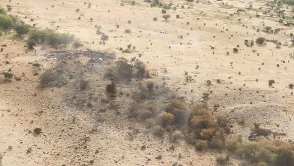 Le site du crash du vol d'Air Algérie AH 5017 au nord du Mali. REUTERS/Burkina Faso Presidency/Handout via Reuters