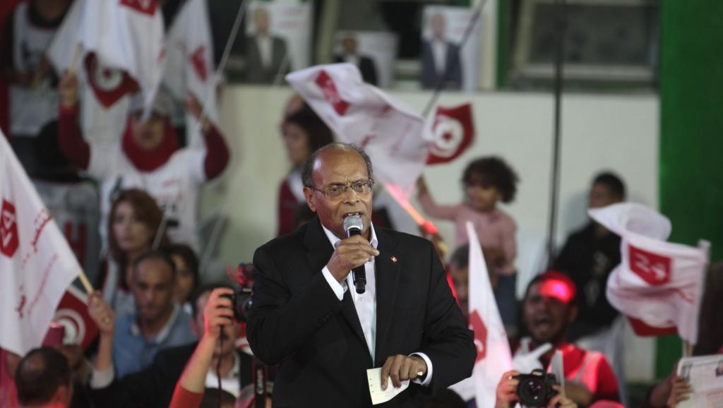 L'actuel président tunisien Moncef Marzouki lors d'un meeting à Tunis, le 21 novembre. REUTERS/Zoubeir Souissi