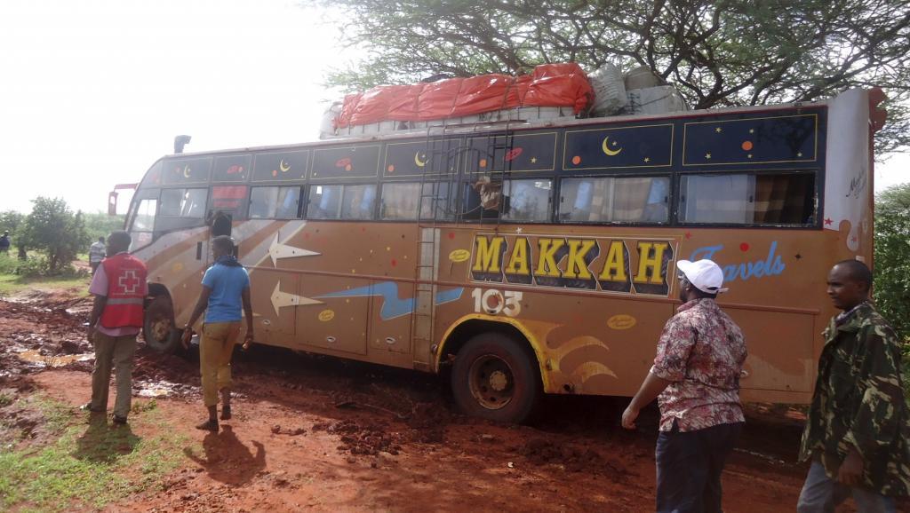 Le bus a été attaqué à quelques kilomètres de Mandera, une localité kényane près de la frontière avec la Somalie et l'Ethopie, le 22 novembre 2014. REUTERS/Stringer
