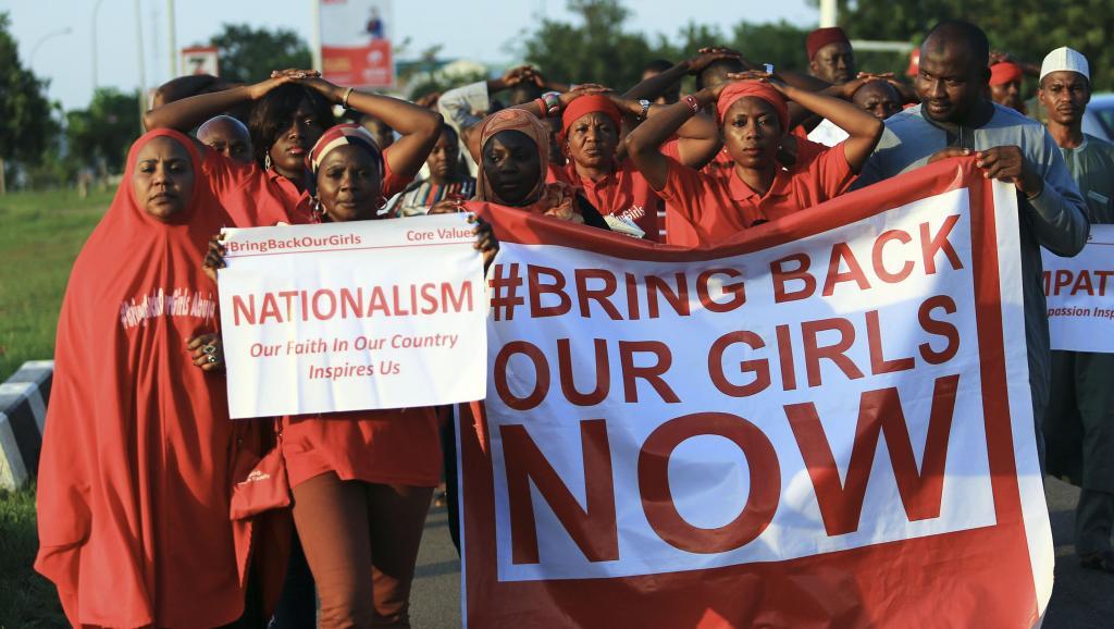 Manifestation pour la libération des lycéennes enlevées à Chibok, à Abuja, le 3 novembre. REUTERS/Afolabi Sotunde