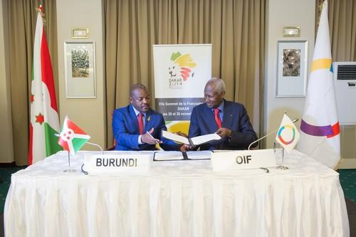 Francophonie-Dakar : Un pacte linguistique avec le Burundi
