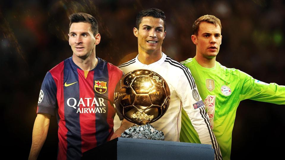 Ballon d'or 2015: Neuer face aux deux incontournables