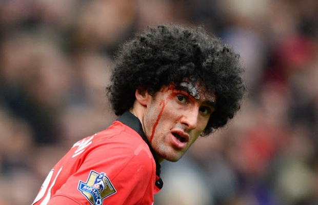 Manchester United  avec un grand Marouane Fellani contre Liverpool