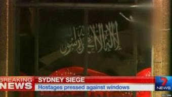 le drapeu des preneurs d'otages de Sidney