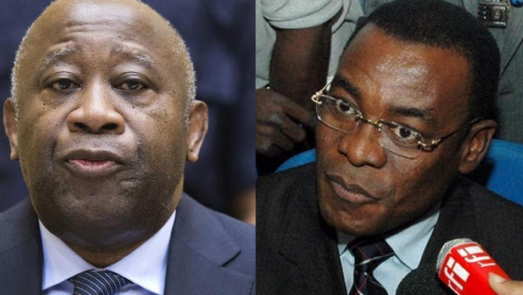Le président ivoirien Laurent Gbagbo (g.), et le président du FPI, Pascal Affi N'Guessan (d.)