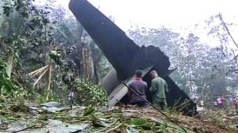 l'épave d'un avion accidenté