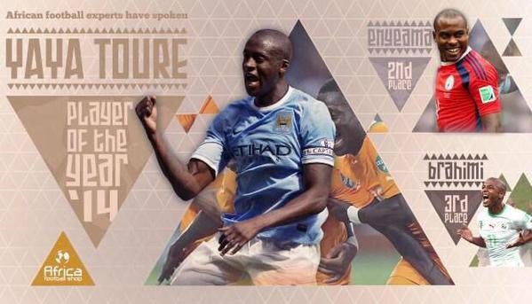 Yaya Touré désigné joueur africain de l'année par Africafootballshop
