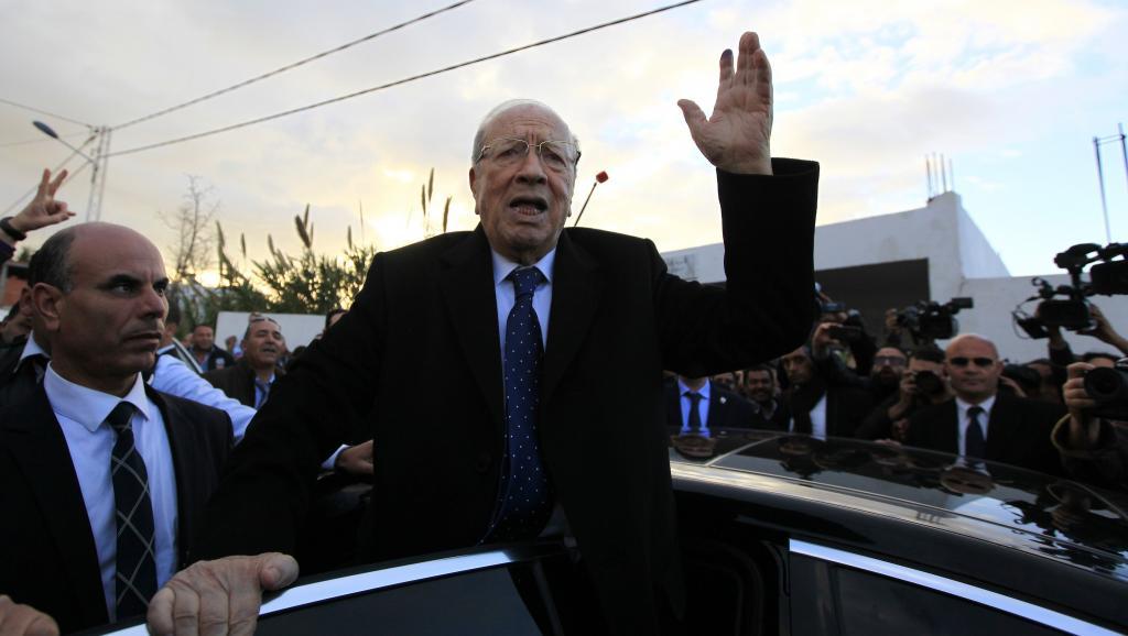 Beji Caïd Essebsi après avoir été voté à Tunis, le 21 décembre. REUTERS/Anis Mili