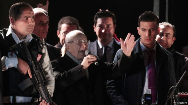 Béji Caïd Essebsi, 88 ans, n'a pas tardé pour annoncer sa victoire