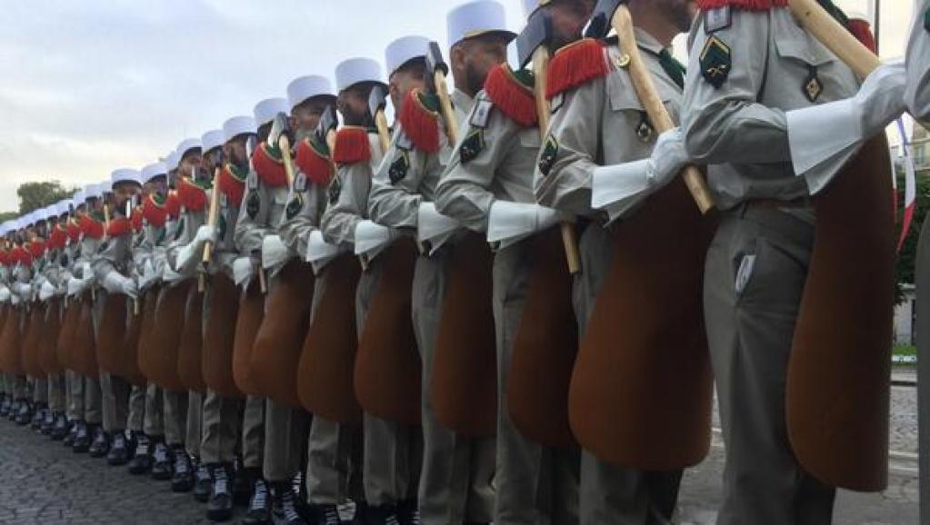 La légion étrangère lors d'un défilé du 14-Juillet. RFI/Pierre René-Worms