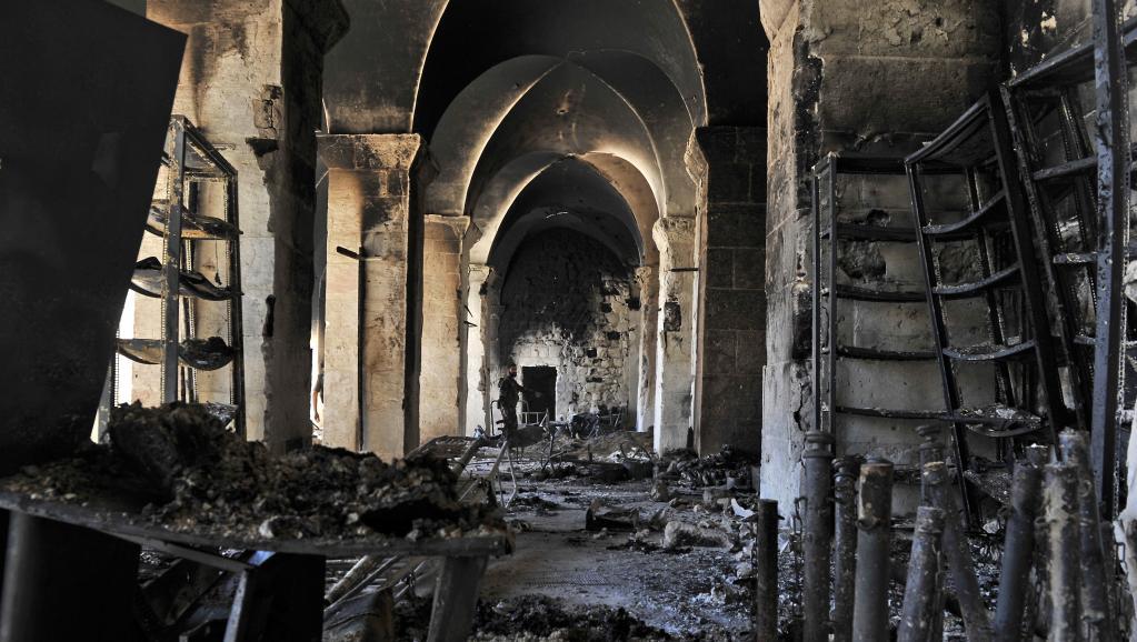 La Grande Mosquée d'Alep, photographiée fin 2012. AFP PHOTO/Tauseef MUSTAFA