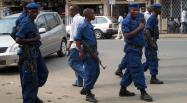 Des policiers à Bujumbura, le 26 septembre dernier. AFP PHOTO / ESDRAS NDIKUMANA